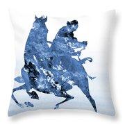 Li Shang-blue Throw Pillow