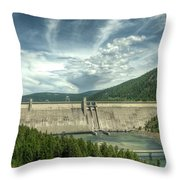 Libby Dam Throw Pillow