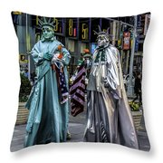 Liberties In Times Square Throw Pillow
