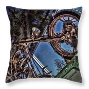 Liberty Ambassador Copper Motorcycle Statue Of Liberty Ny Throw Pillow