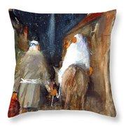 Liberty - Arriving In Bethlehem Throw Pillow