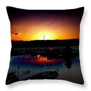 Liberty Bay Sunset Throw Pillow