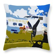 Liberty Belle Throw Pillow