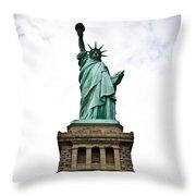 Liberty Enlightening The World Throw Pillow