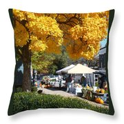 Liberty Farmers Market Throw Pillow