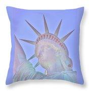 Liberty Glows Throw Pillow
