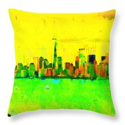 Liberty In New York - Pa Throw Pillow