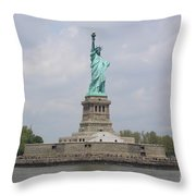 Liberty Island Throw Pillow