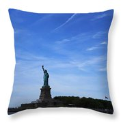 Liberty Island Statue Of Liberty Throw Pillow