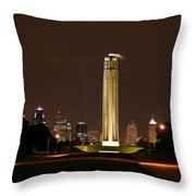 Liberty Memorial Kansas City Throw Pillow