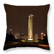 Liberty Memorial Kansas City Throw Pillow
