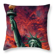 Liberty On Fire Throw Pillow