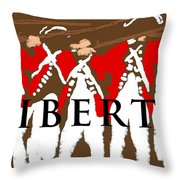 Liberty Revolution Brown Throw Pillow