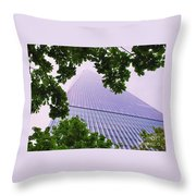Liberty Tower Framed By Trees Throw Pillow