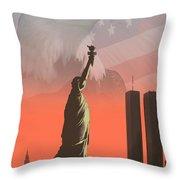 Liberty2 Throw Pillow