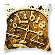 Libra Star Sign Throw Pillow