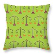 Libra Zodiac Sign Pattern Throw Pillow