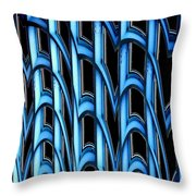 Library Abstract Throw Pillow