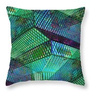 Library Angles Throw Pillow