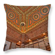Library Details Throw Pillow