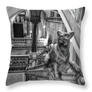 Library Dog Throw Pillow