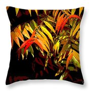 Library Leaves Throw Pillow