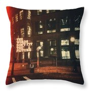 Library Night Throw Pillow