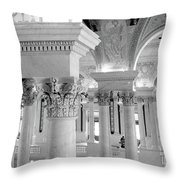 Library Of Congress 2 Black And White Throw Pillow