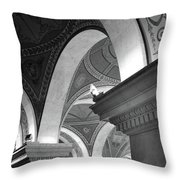 Library Of Congress 3 Black And White Throw Pillow