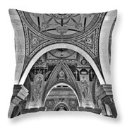 Library Of Congress Arches And Murals Throw Pillow