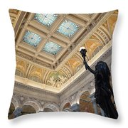 Library Of Congress Great Hall IIi Throw Pillow