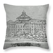 Library Of Congress Proposal 3 Throw Pillow