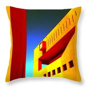 Library On A Clear Day Throw Pillow