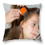 Lice In Head Throw Pillow