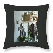 Licetto Barbedos Blue Throw Pillow