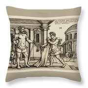 Lichas Bringing The Garment Of Nessus To Hercules Throw Pillow