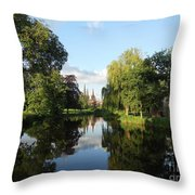 Lichfield Cathedral Reflectons Throw Pillow