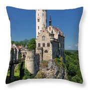 Lichtenstein Castle Throw Pillow by Yair Karelic