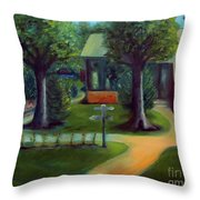 Lichterman Nature Center Throw Pillow by Karen Francis