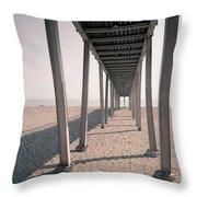 Lido Beach In Spring Throw Pillow