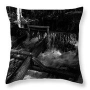 Liesijoki In Bw Throw Pillow