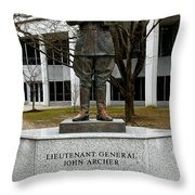 Lieutenant General John Archer Lejeune Throw Pillow