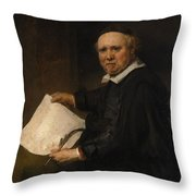 Lieven Willemsz Van Coppenol Born About 1599 Died 1671 Or Later Throw Pillow