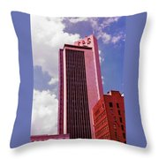 Life And Casulty Tower - Nashville, Tennessee Throw Pillow