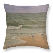 Life At The Sea Shore Throw Pillow