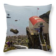Life Boat Station Throw Pillow