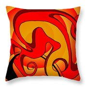 Life Circuits- The Symbiosis Throw Pillow