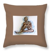 Life Drawing Study Throw Pillow