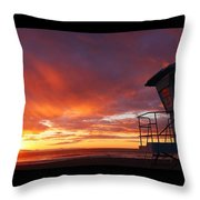 Life Guard Tower Throw Pillow