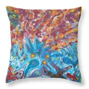 Life Ignition Mural V1 Throw Pillow